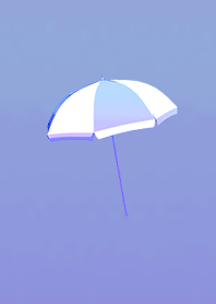Fashionableumbrella in summer BluePurple