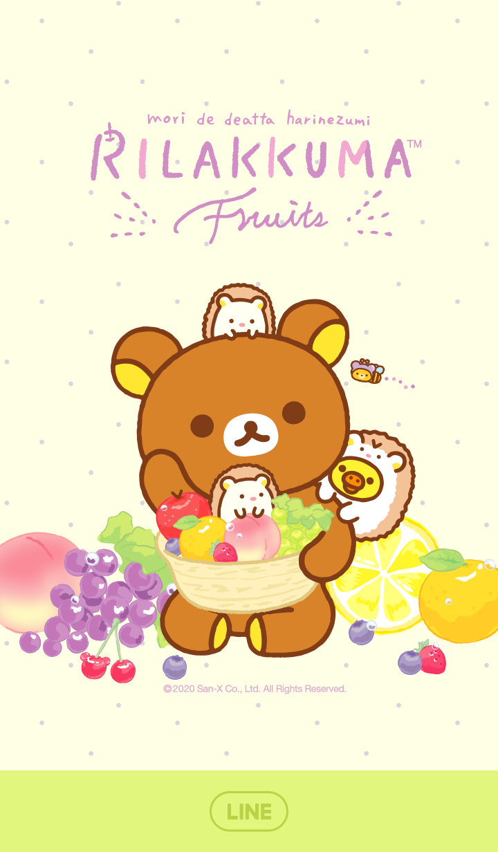 Rilakkuma: Yum Yum Relax with Fruits