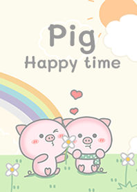 Pig pink happy time