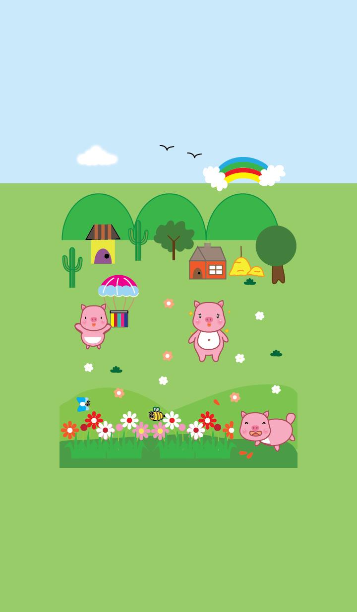 Simple cute pig theme v.9 (JP)