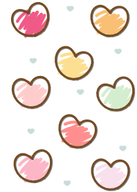 Sweet mini heart colorful v...