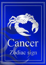 Zodiac signs -Cancer4 Silver blue-