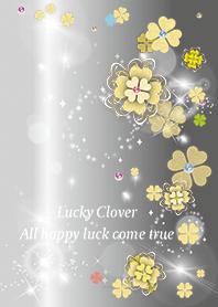 Gray : Cute luck rising clover
