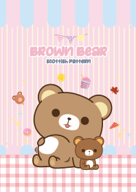 Brown Bear Kawaii Love Pink