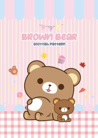 Brown Bear Kawaii Love Pink