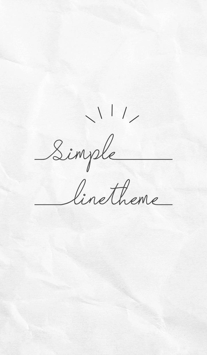 Simple Line kraft Paper #Monotone