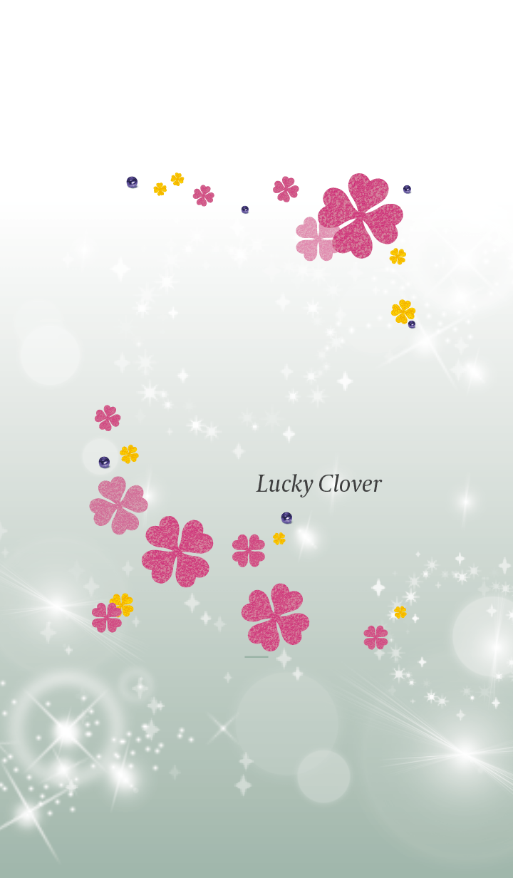 Beige Khaki : Lucky pink clover