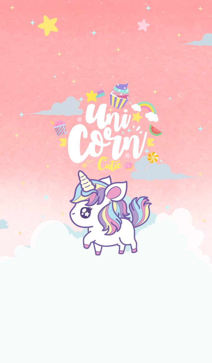 Unicorn Kawaii Love Cutie