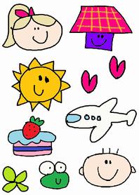 colorful children
