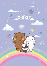 Three Bears Rainbow Star Cute Violet