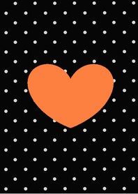 dot orange heart
