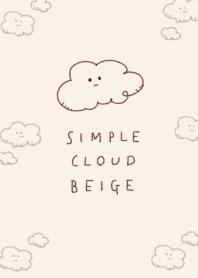簡單的 雲 淺褐色的