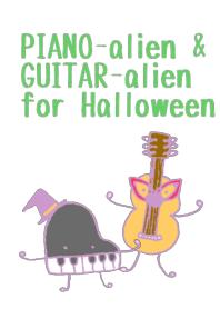 PIANO-alien&GUITAR-alien for Halloween.