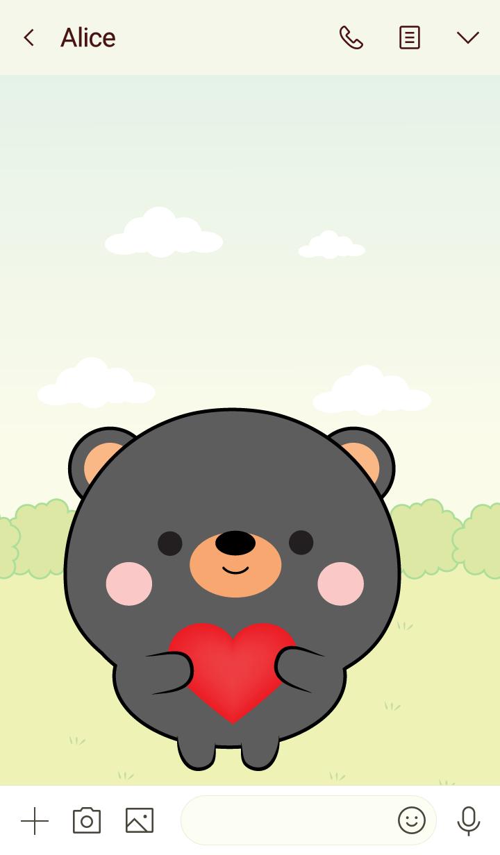 Mini Lovely Black Bear Theme (jp)