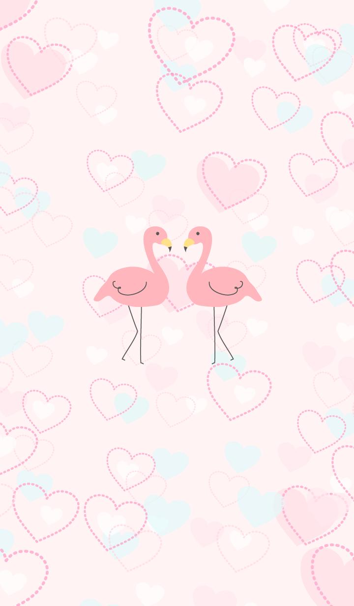 Happy heart flamingo3