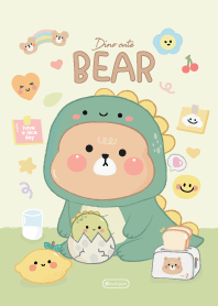 Bear Cute Green