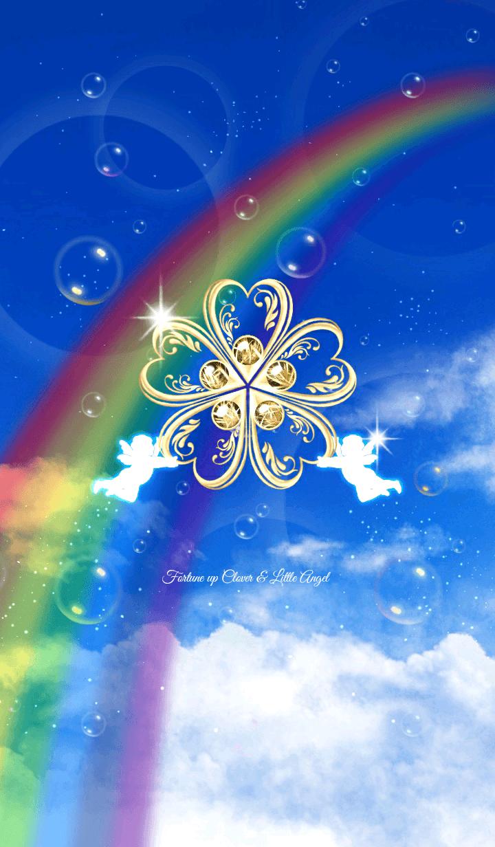 運気アップ♥️小さな天使と黄金クローバー