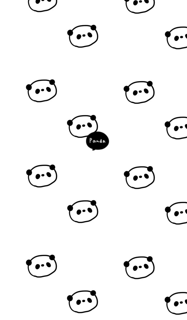 ホワイト×パンダらけ。