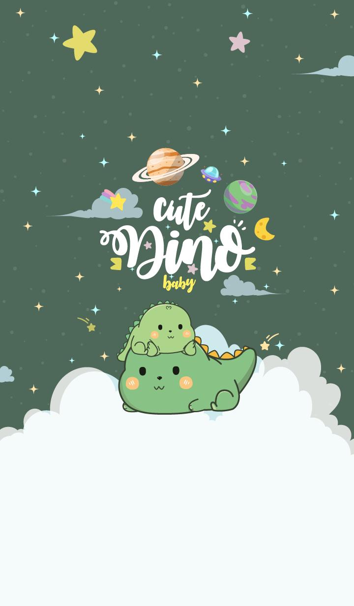 Dinosaur Baby Olive Green