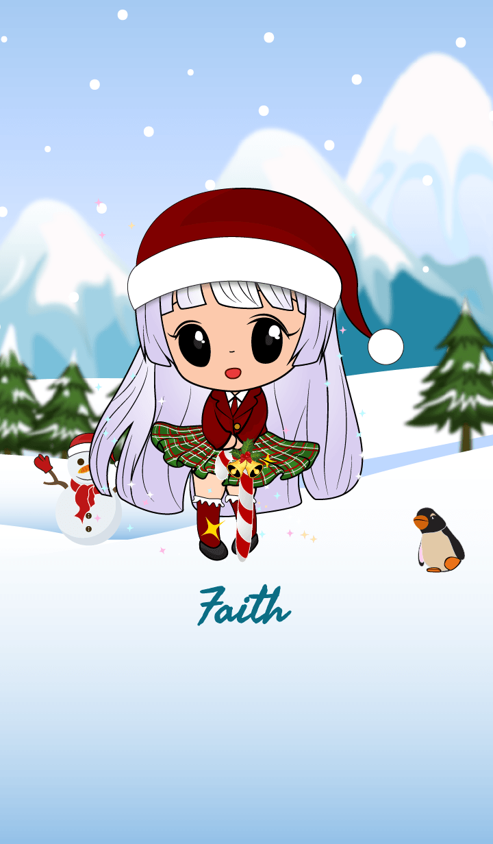 Faith snowy girl