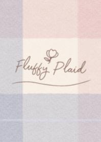 Fluffy Plaid #Pink&Navy