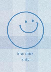 Blue check Smile