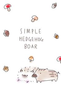 simple Hedgehog boar