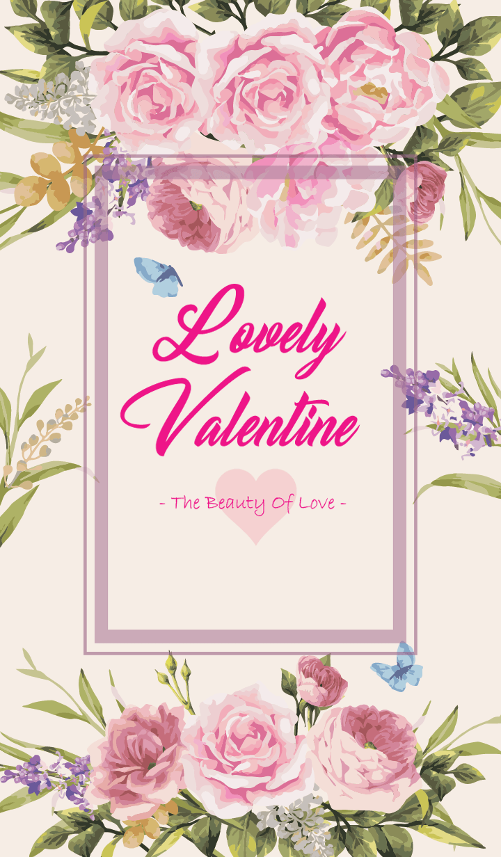 Lovely Valentine with roses
