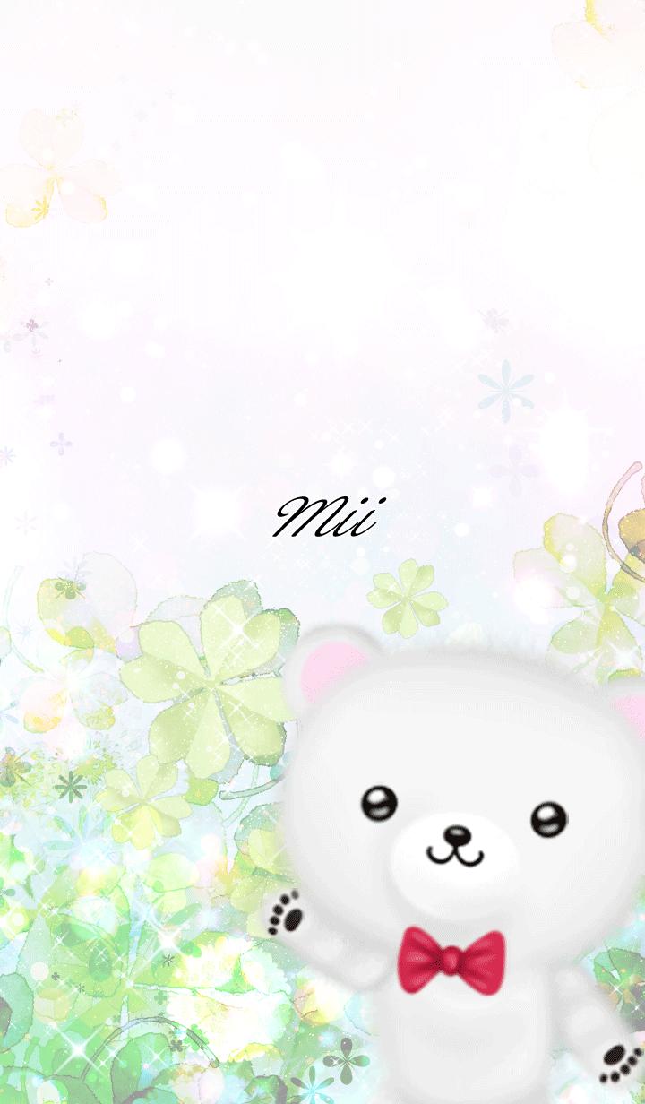 Mii Polar bear Spring clover