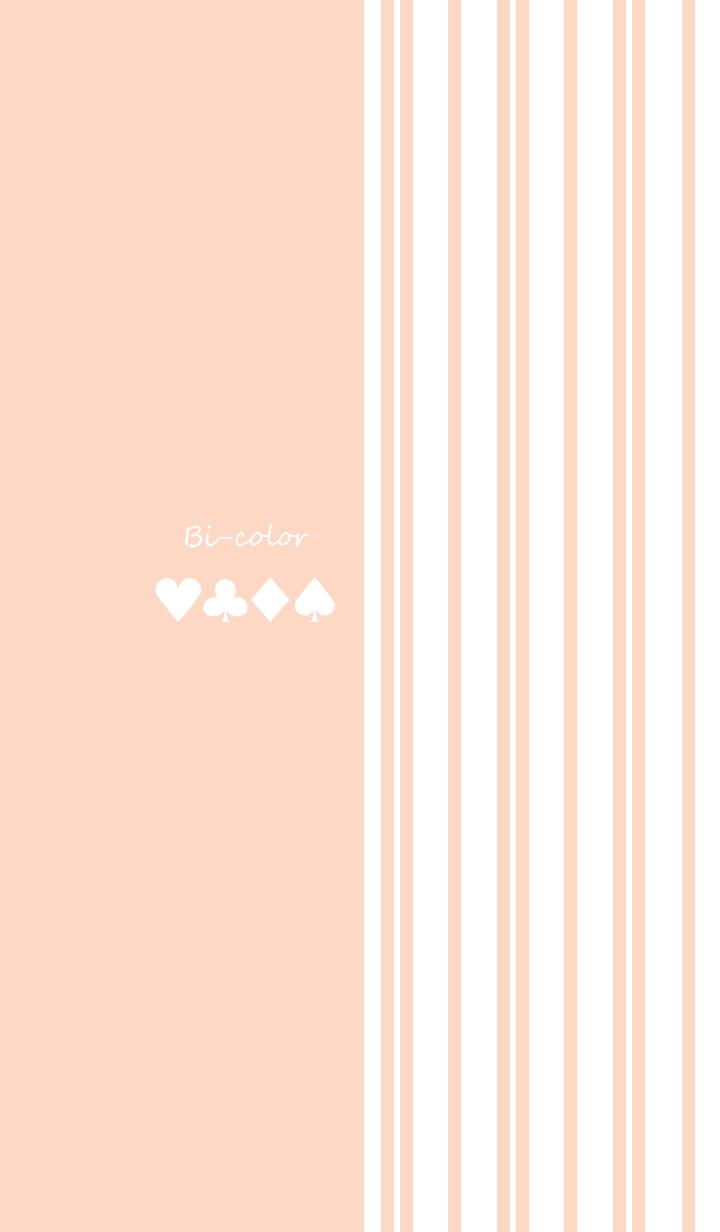 Bi-color -Pastel orange stripe-