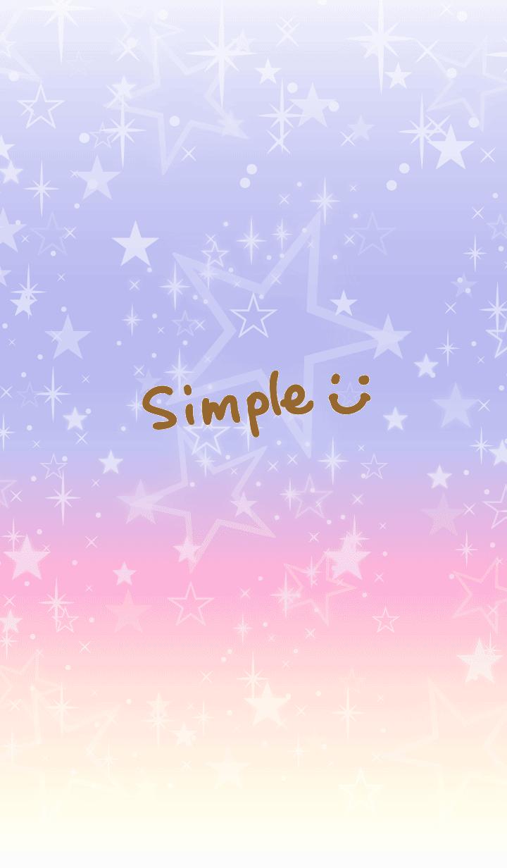 A gradation a star is brilliant-smile18-