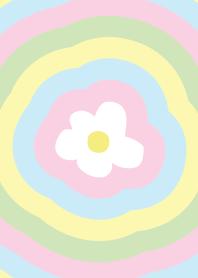 Rainbow flower pastel
