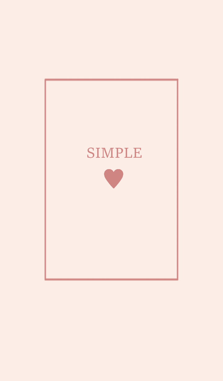 SIMPLE HEART =dusty pink=