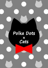 Polka Dots and Cats(monotone)