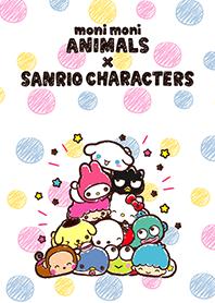 SANRIO CHARACTERS × moni moni ANIMALS