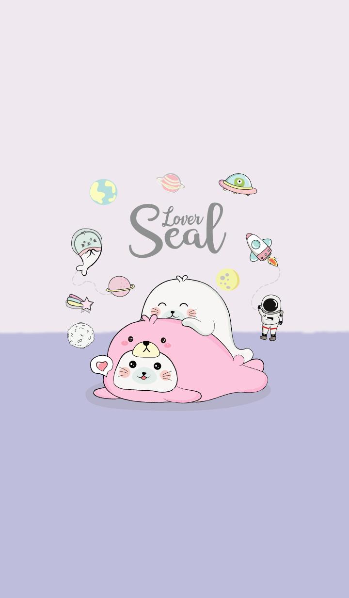 Seal Bear Costume. (Purple)