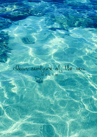 clean surface of the sea -BLUE- 14