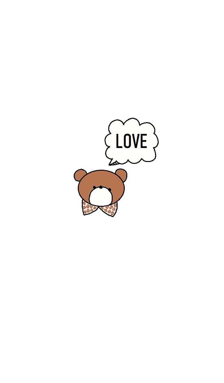 (simple Bear theme (white) )