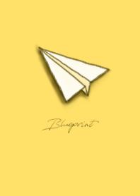 藍圖:紙飛機(檸檬黃)