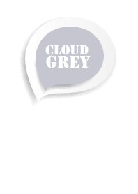 Cloud Gray Button In White