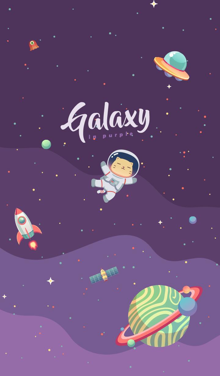 Galaxy in Purple