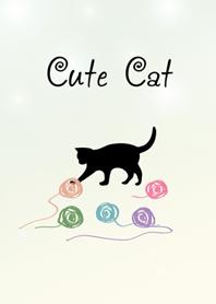 可愛神秘黑色貓咪