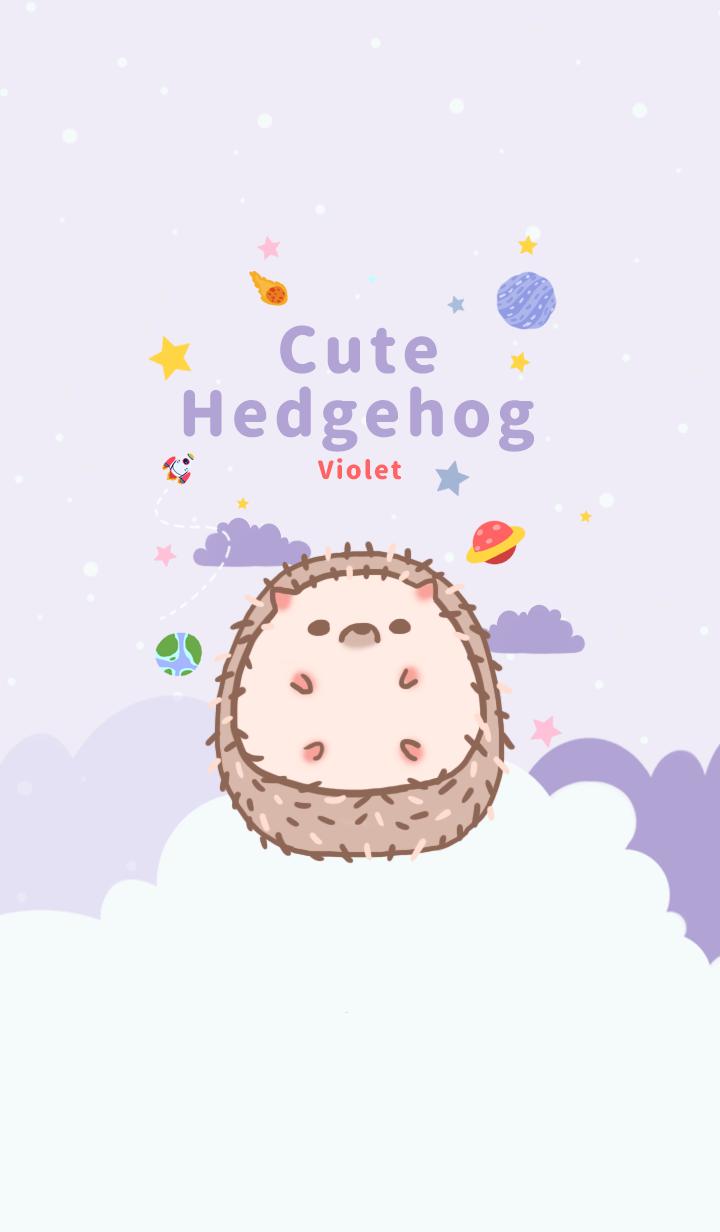 misty cat-Cute Hedgehog Galaxy Violet