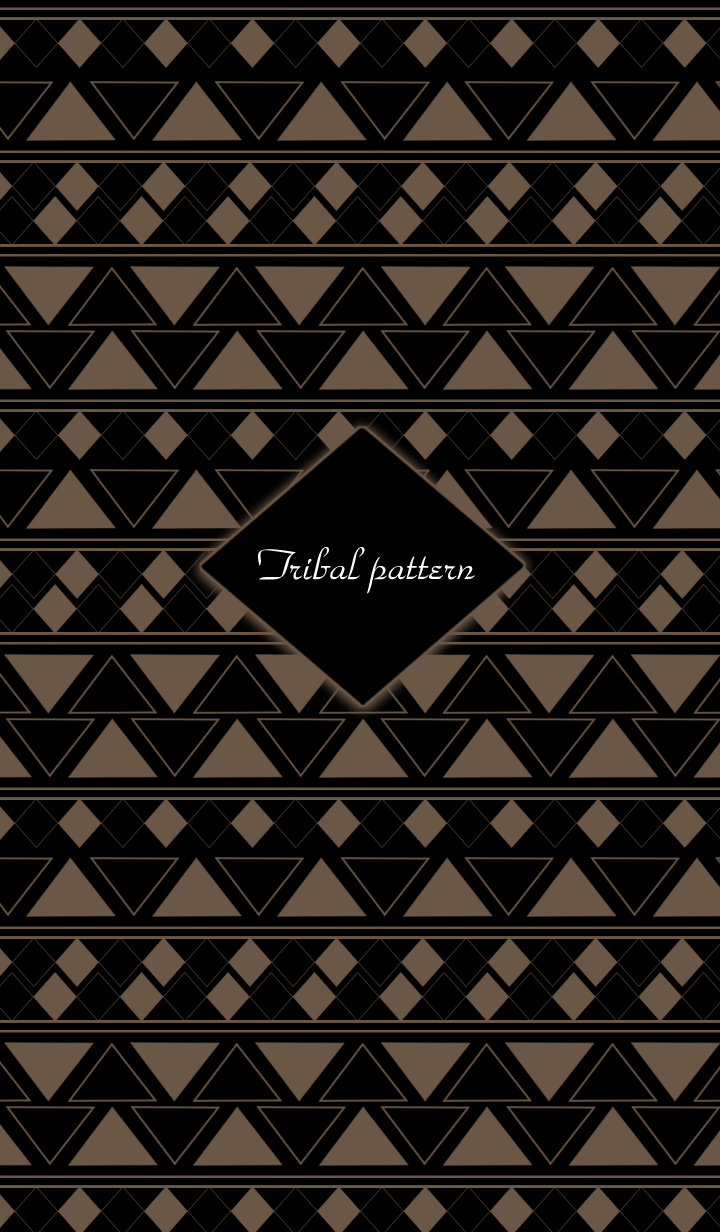 Tribal pattern -Brown- #cool