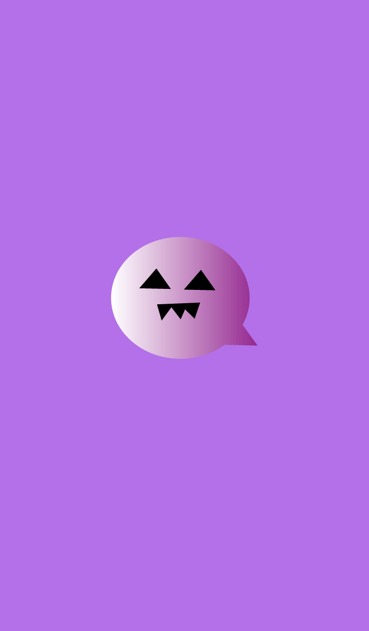 simple Halloween(purple2)
