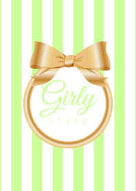 Girly Style-GOLDStripes-ver.3