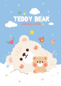 Teddy Bear Candy Cotton Blue