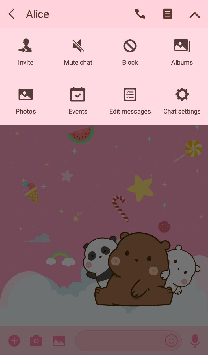 Kawaii Cute Bear pink