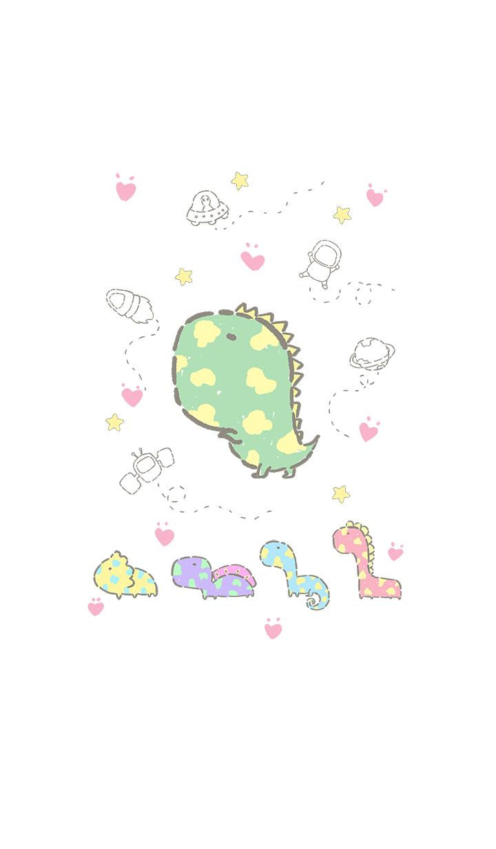 little dinosaur in space