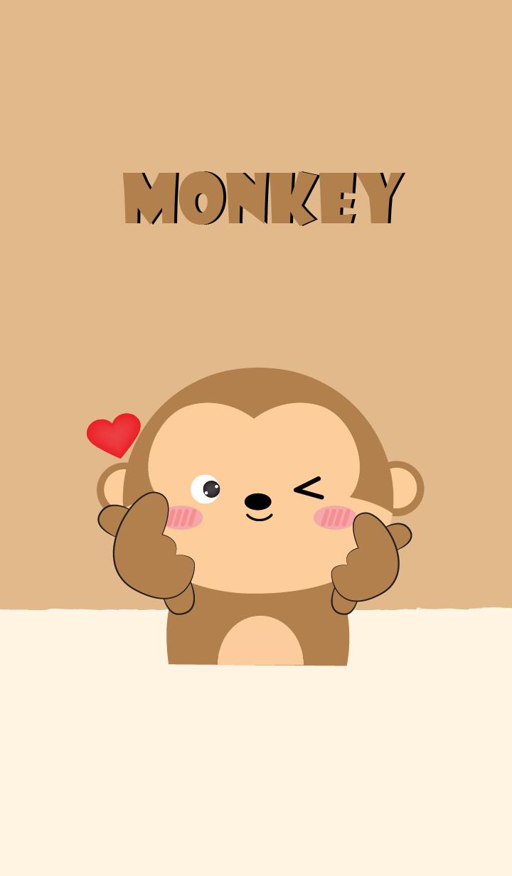 Love Love Cute Monkey Theme